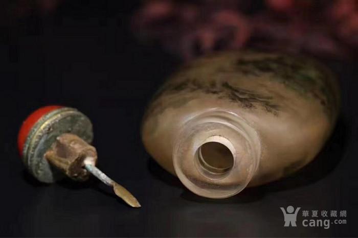 海外回流 水晶内画山水人物鼻烟壶