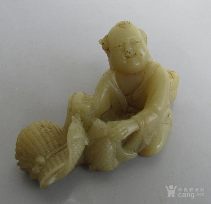 九十年代寿山石童趣小摆件