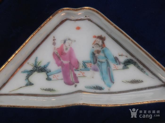 清代粉彩八仙人物绘画九子盘