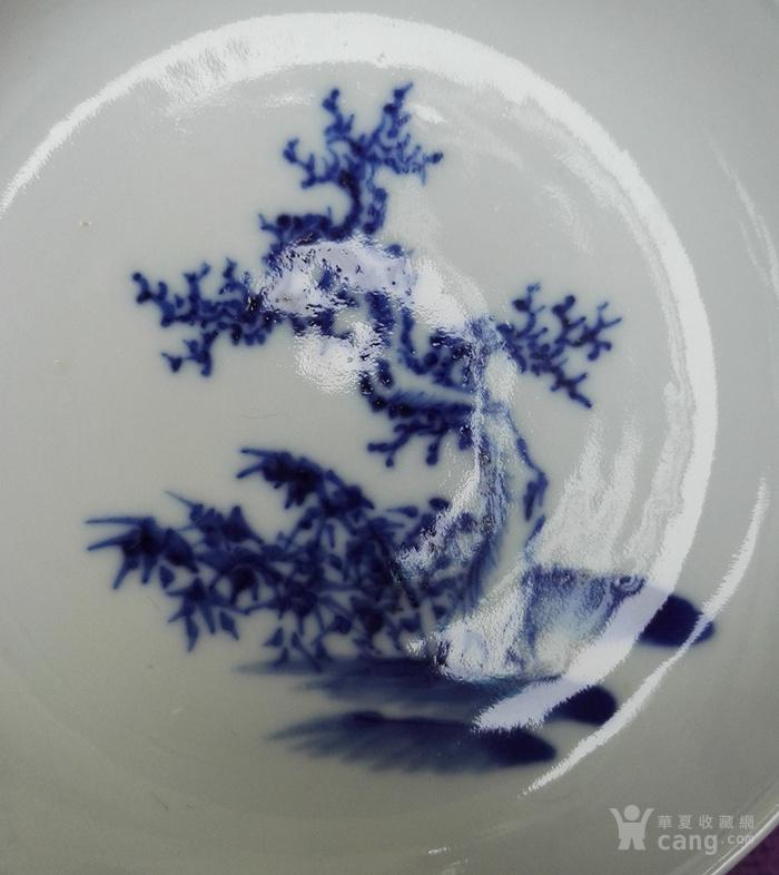 清道光,青花枯树盘一双。
