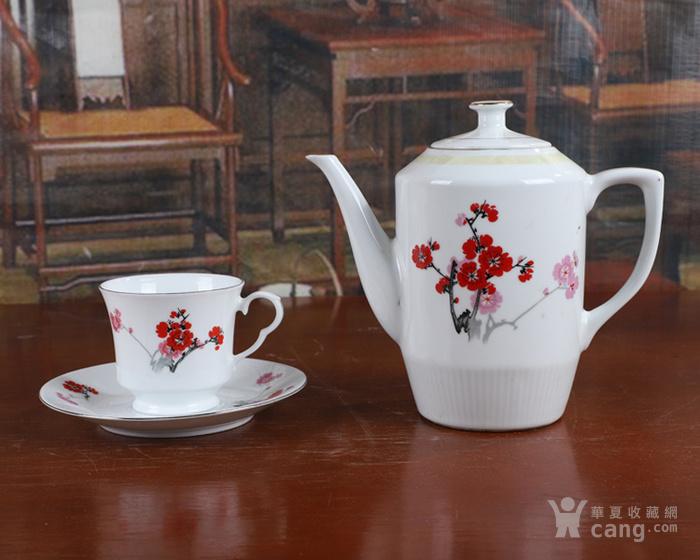 景德镇文革老厂货瓷器 70年代�{白泥九头茶具