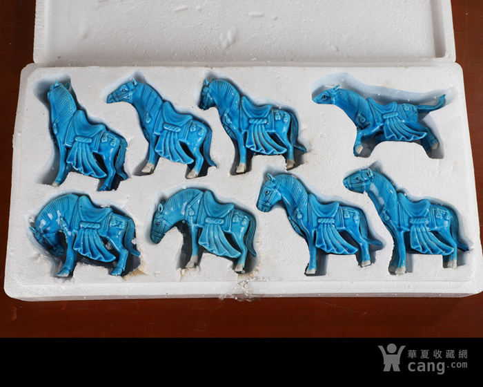 景德镇文革老厂货瓷器 70年代法翠回流鞍子八马