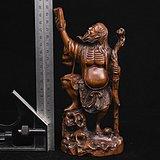 旧藏小叶黄杨木雕神农观天书人物摆件