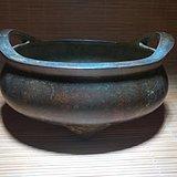 精品 开门到代 清早期 铜质 精工铸造双耳 三足 香炉