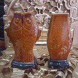七十年代酱釉瓷瓶2个