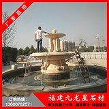 双层喷泉水景 欧式石雕水钵 喷水池景观厂家