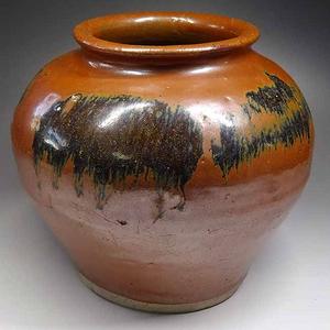 老容柿釉罐
