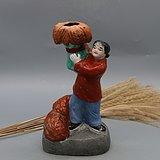 文革时期人物雕塑台灯:
