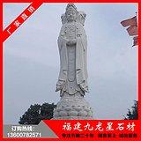惠安石雕三面观音 三面观音菩萨石雕 寺庙大型佛像定制