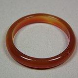几十年的出口创汇期925银镶天然红玛瑙大戒指一枚