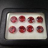 天然红宝石裸石8粒