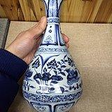 老青花鸳鸯纹玉壶春瓶111888