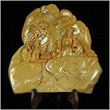 重达3斤9两的大雕件!民国浮雕深山高士图寿山石大摆件
