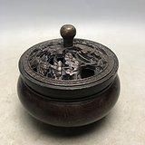 莲池鸳鸯老铜熏香炉E0084