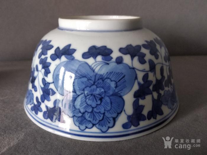 清代青花茶碗