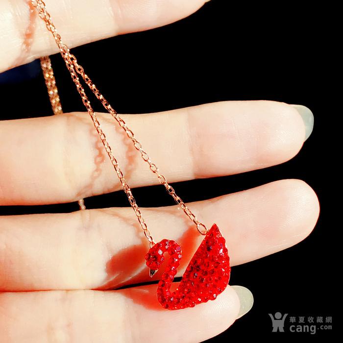 新年就要红!施华洛世奇同款耀红天鹅系列系列手链套装特惠批发图5