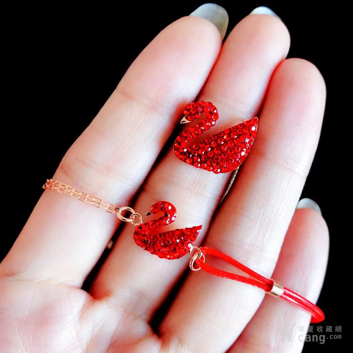 新年就要红!施华洛世奇同款耀红天鹅系列系列手链套装特惠批发图10
