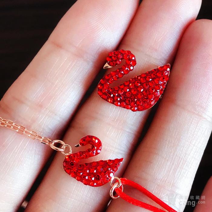 新年就要红!施华洛世奇同款耀红天鹅系列系列手链套装特惠批发图1