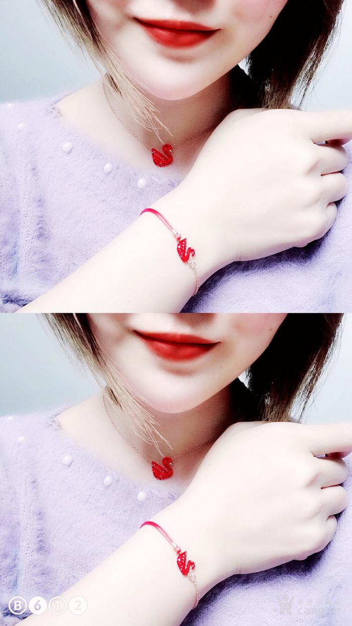新年就要红!施华洛世奇同款耀红天鹅系列系列手链套装特惠批发图12