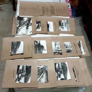 文革林主席指示 浮桥照片资料一套44页全