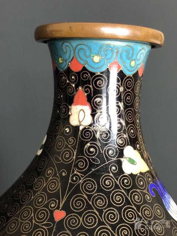 民国  183 景泰蓝葫芦瓶F824图5