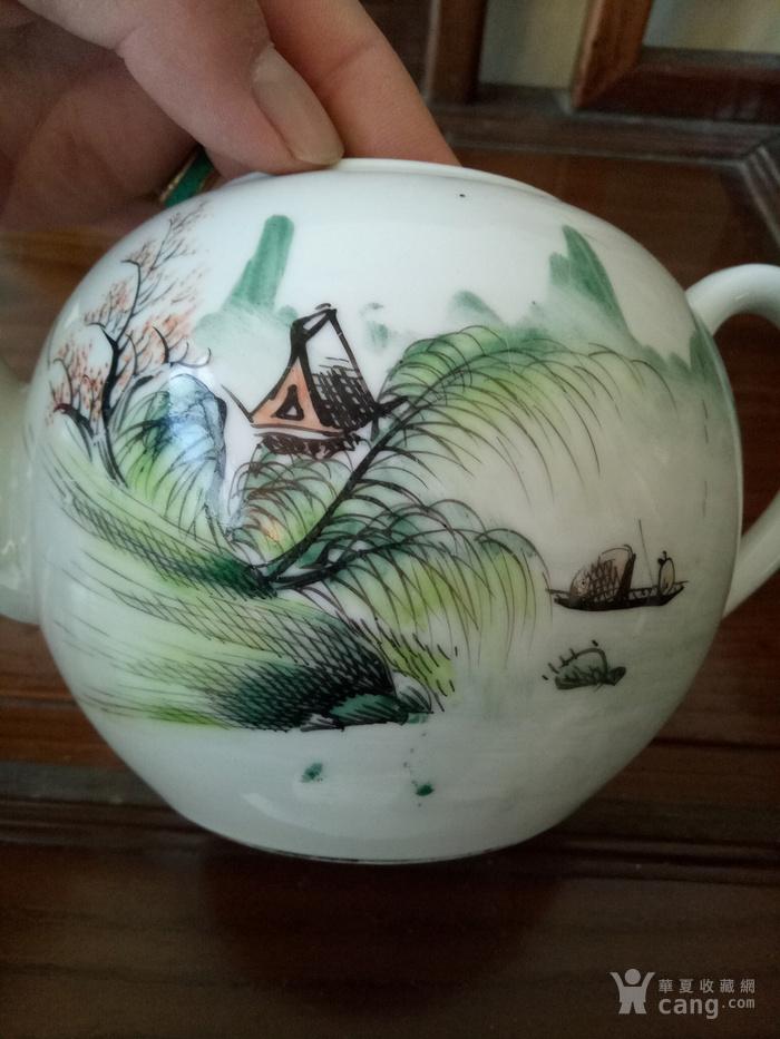 清晚民国浅洚彩茶壶