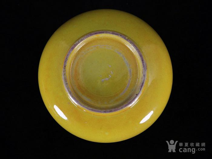 清代黄釉水滴
