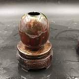 乾隆窑变釉蛋形水呈