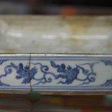 明代青花方盒