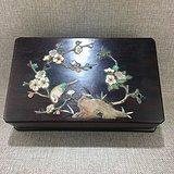 清代紫檀镶嵌玉石首饰盒