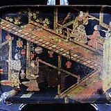 明治时期人物绘画漆盘