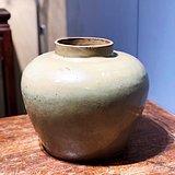 清早期 宜兴段泥 白胶枝 茶叶罐