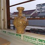 102洪州大窑粘花凸现美花瓶