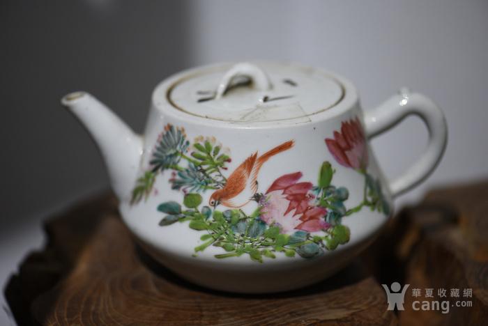 枝头求友花鸟茶壶