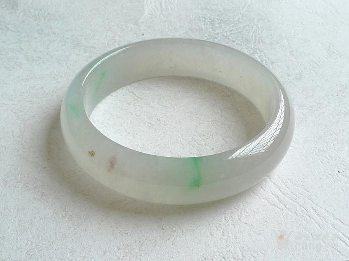 润玉楼 天然A货翡翠  0312 冰种飘绿手镯 53.5mm