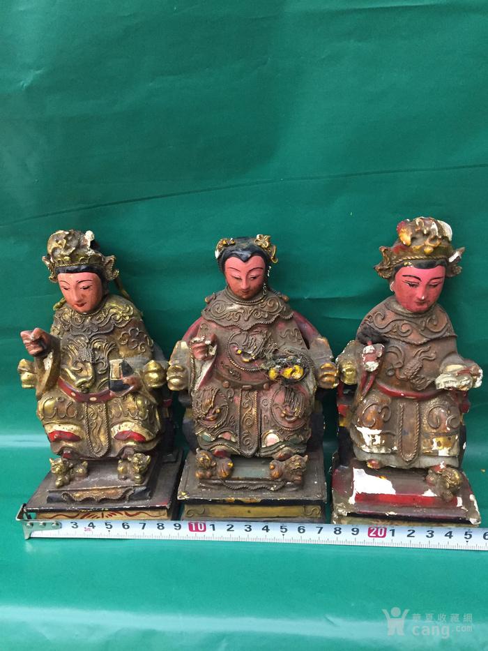 一套3尊女神造像