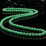 缅甸翡翠好种满绿108颗珠链72.73g