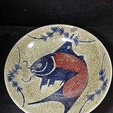 釉里红鱼盘子