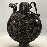 乌金釉古风瓷壶A0901