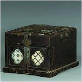 绝对真品!拆迁老城区收来的民国时期木制梳妆盒