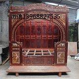 民俗老物件老旧家具精雕老床架子床千工床拔步床古董古玩收藏品