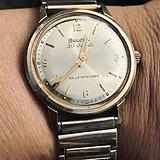 宝路华30 钻全自动瑞士镀金表
