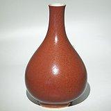 清18世纪   郎窑红釉玉壶春瓶
