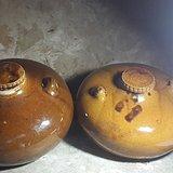 二个民国黄釉暖水壶 全品