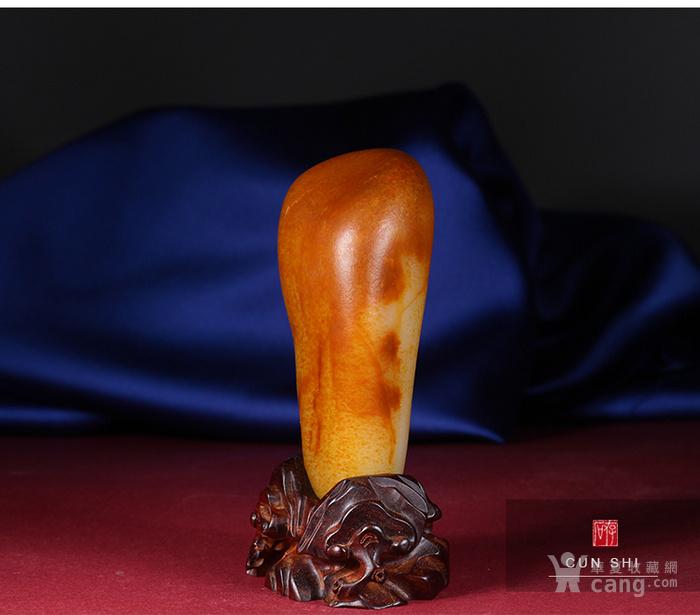 收藏级珍品 存石和田玉 新疆和田玉籽料红油皮原石368g图3