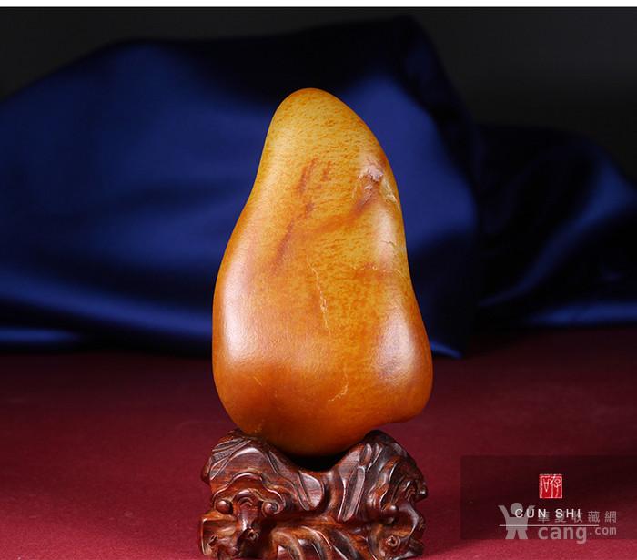 收藏级珍品 存石和田玉 新疆和田玉籽料红油皮原石368g图5