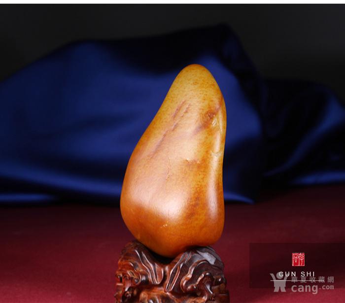 收藏级珍品 存石和田玉 新疆和田玉籽料红油皮原石368g图6