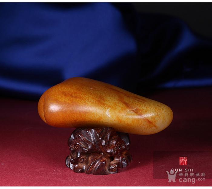 收藏级珍品 存石和田玉 新疆和田玉籽料红油皮原石368g图8