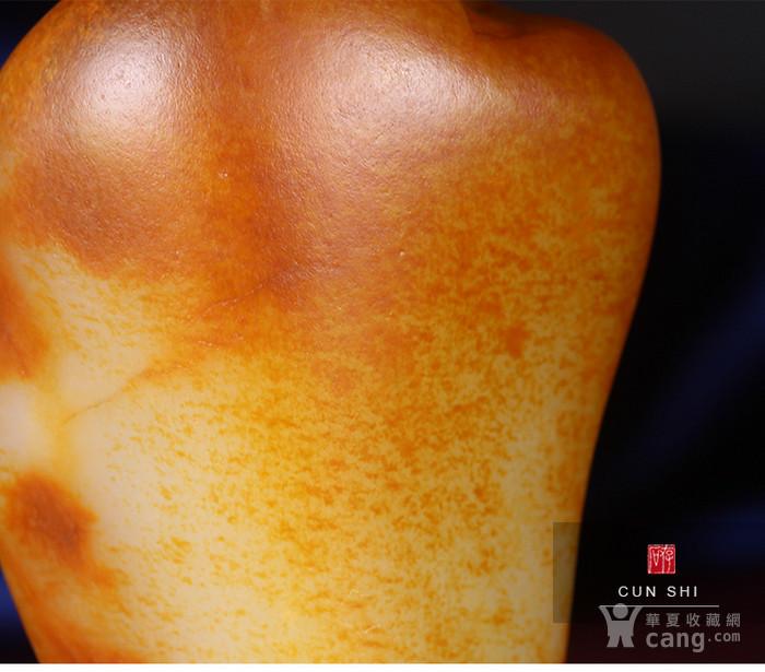 收藏级珍品 存石和田玉 新疆和田玉籽料红油皮原石368g图10