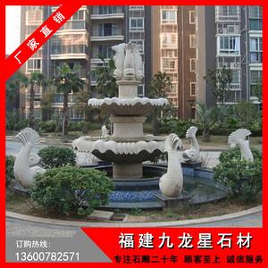 黄锈石喷泉 石雕喷泉批发 别墅花园水景设计